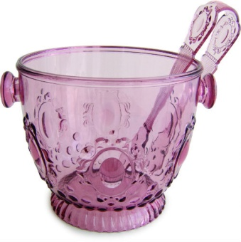 Ice bucket with tong Old Pink