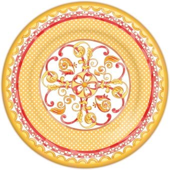 Baroque & Rock set 4 Dinner plates