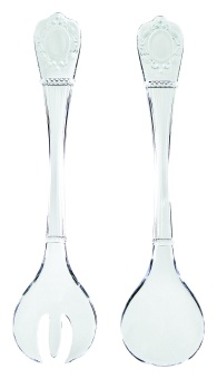 Evergreen Cutlery salad set CLEAR