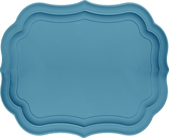 Oval Tray Blue/grey