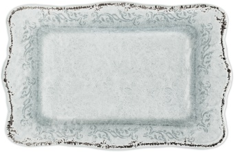 Evergreen Rectangular tray WHITE