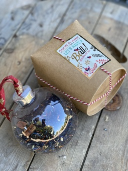 Christmas Ornament filled with tea
