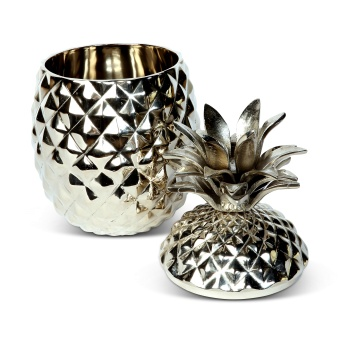Pineapple Icebucket with lid - silver