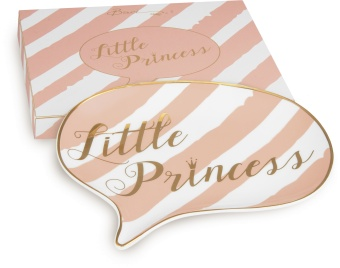 Porslinsfat Shine Chat LITTLE PRINCESS, mellan