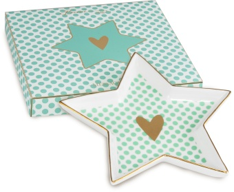 Porslinsfat Shine Star SMALL HEART, Liten