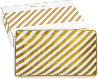 Shine Small Tray GOLD STRIPES
