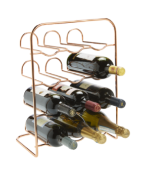 12 bottle Rose Gold Wire Rack