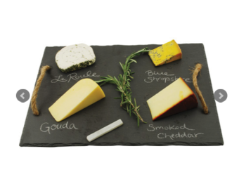 Ostbricka Twine Rustic Farmhouse Slate Cheese Board, Skiffer