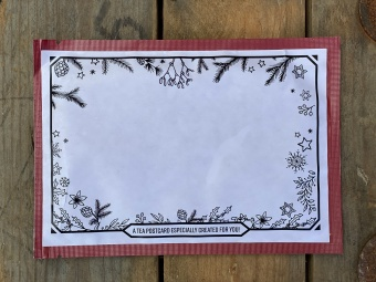 Post Card Colouring with frame