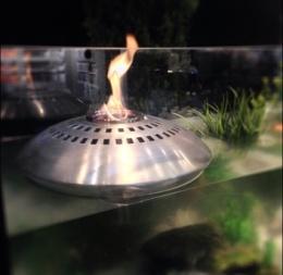 Flytande eldklot matt