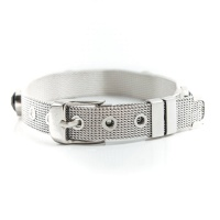 Adele crystal bracelet, Black silver