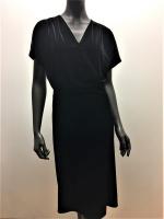 VELVET DRESS W. CROSS OVER