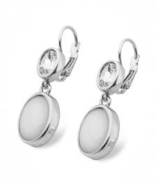 Rhodos Pendant earring, Onyx silver