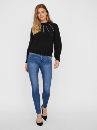 VMPEPPY PEARL LS HIGHNECK BLOUSE
