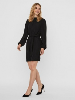 VMBOA L/S HIGHNECK SHORT DRESS WVN GA BF