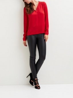 VICAVA L/S V-NECK TOP-FAV
