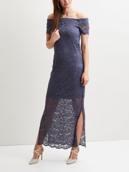 VIZALLY OFF SHOULDER MAXI DRESS/DC