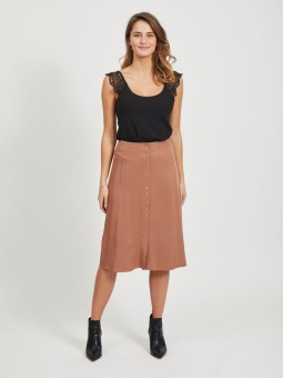 VIMOROSE HW BUTTON MIDI SKIRT/SU
