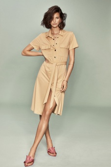 VISAFINA S/S SHIRT DRESS - NOOS
