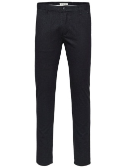 SLHSLIM-ARVAL BLACK MIX PANTS W NOOS