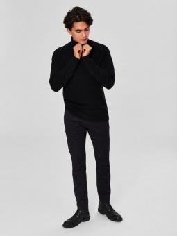 SLHSLIM-ARVAL BLACK MIX PANTS W NOOS