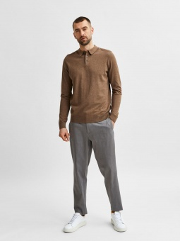 SLHBERG LS KNIT POLO NECK B NOOS