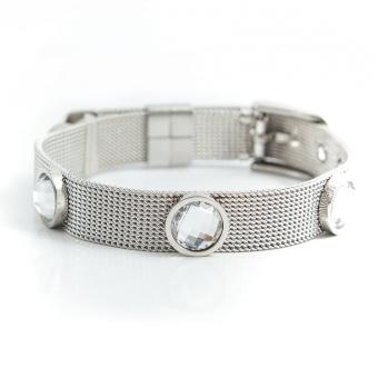 Adele crystal bracelet, Crystal Silver