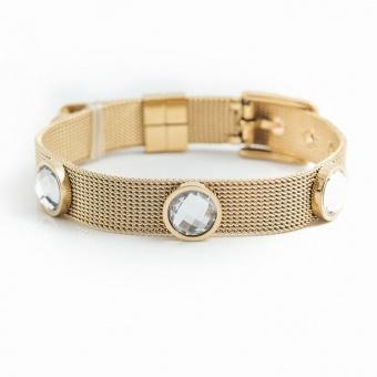 Adele crystal bracelet, Crystal gold