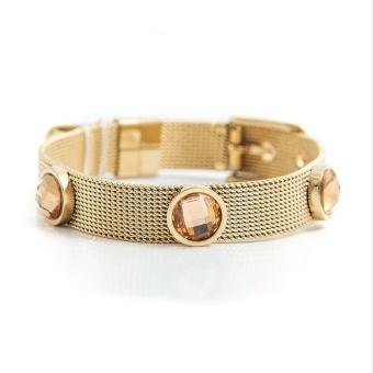 Adele crystal bracelet , Champagne gold
