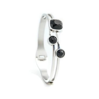 Belle crystal bracelet, Black silver