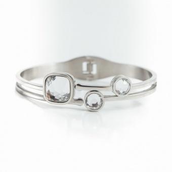 Belle crystal bracelet, Crystal silver