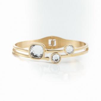 Belle crystal bracelet, Crystal gold
