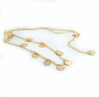 Coin Necklace, Gold 42 cm