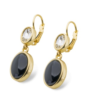 Rhodos pendant earring, black gold