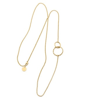 Terry twin Necklace , gold