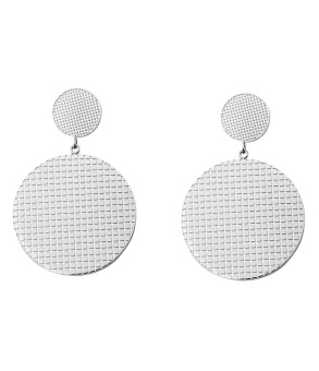Cassandra double earring, silver