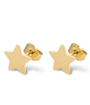 Star love earring, gold