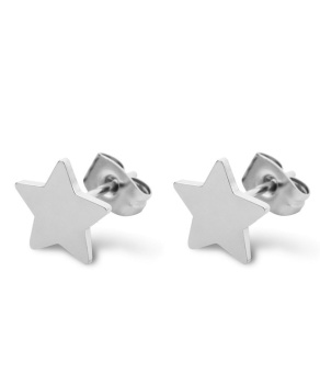 Star love earring, silver