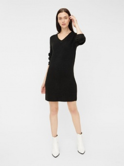 PCELLEN LS V-NECK KNIT DRESS NOOS