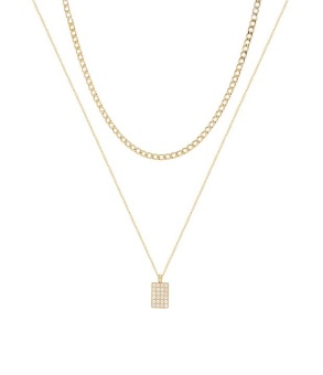 Terry double chain necklace