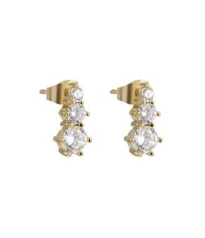Tripple crystal earring