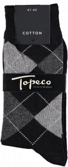 TOPECO SOLIC COTTON ARGYLE