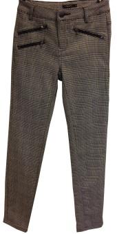 8 Bella zip check trouser