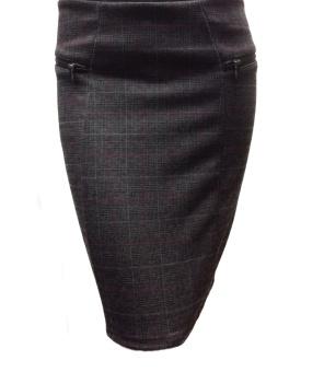 B Jenny zip chech skirt
