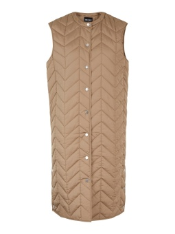 PCFAWN LONG QUILTED VEST