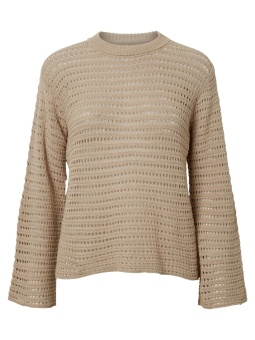 PCCLIPPA 3/4 O-NECK KNIT