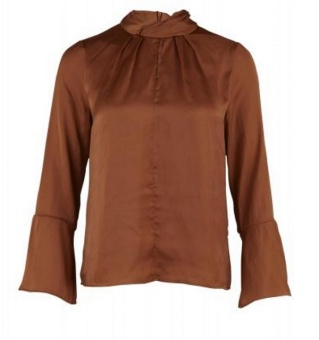 BLOUSE  W GATHERED COLLAR