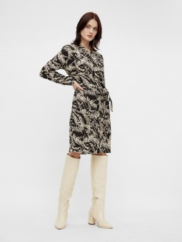 OBJTALUSA L/S BIRDY DRESS