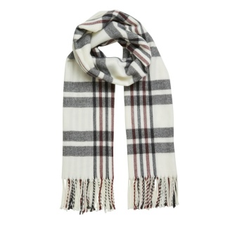 OBJMARILYN WOOL CHECK SCARF PB4