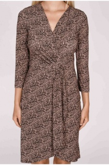 DRAPEY PRINTED JERSEY DRESS